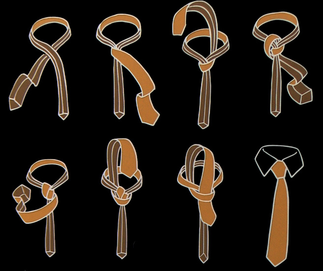 How to tie a Manhattan Knot