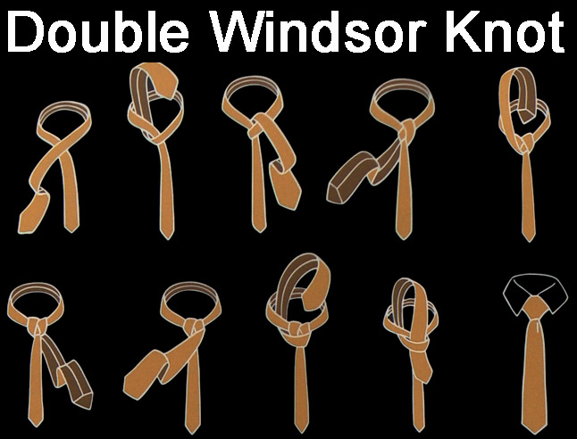 How to tie a double windsor knot how to tie a tie ccuart
