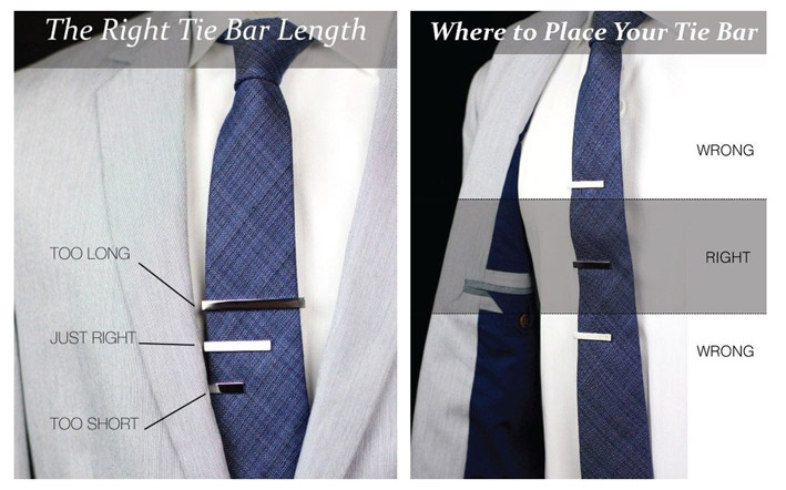 Where to place your tie bar